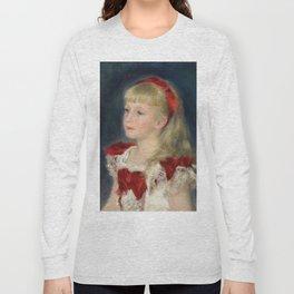 "Auguste Renoir ""Mademoiselle Grimprel au ruban rouge"" Long Sleeve T-shirt"