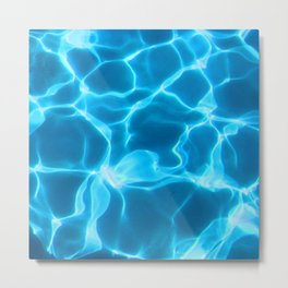 Water Reflections From Inside a Pool Metal Print