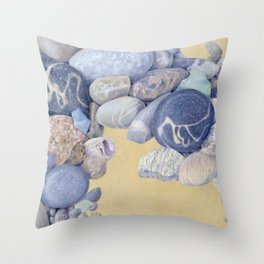 Beach Front I Throw Pillow