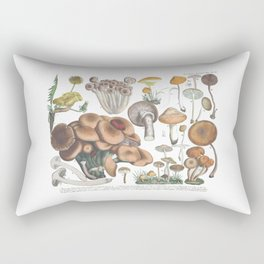 Vintage Mushrooms Rectangular Pillow