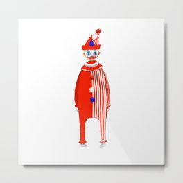 Spooky Halloween Clown Serial Killer John Wayne Gacy Metal Print