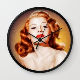 Rita Hayworth by JS Wall Clock