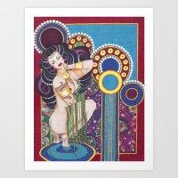 klimt Art Prints featuring African Klimt by Morgan Fay