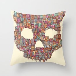 OldSkull City Throw Pillow