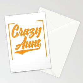 """Auntie Shirt Full Of Sarcasms Saying """"I'm The Crazy Aunt Everyone Warned You About"""" T-shirt Design Stationery Cards"""