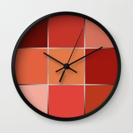 Squares , patchwork 6 Wall Clock