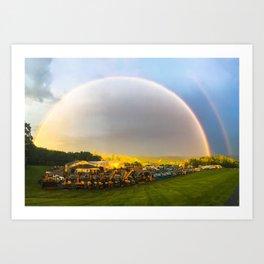 B&K Rainbow Art Print