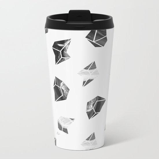 Marble Fragments Metal Travel Mug