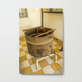 S21 Water Torture Barrel - Khmer Rouge, Cambodia Metal Print