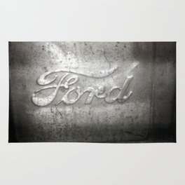 Ford Motors Black and white film Photography Rug