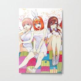 Nakano Yotsuba Metal Print