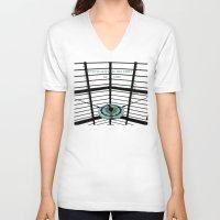 oscar wilde V-neck T-shirts featuring Oscar Wilde #4 Thief of Time by bravo la fourmi
