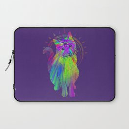 Psychedelic Psychic Cat Laptop Sleeve