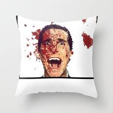 8-Bitman Throw Pillow