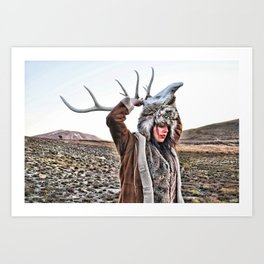 Elk Magic Art Print