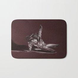 Black and White Drawing Bath Mat