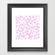 A Lot of Skulls Pink Framed Art Print