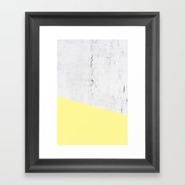 Stone and Yellow Framed Art Print