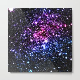 Cool Tone Galaxy StarS Metal Print