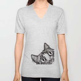 Hey! Cat! Unisex V-Neck