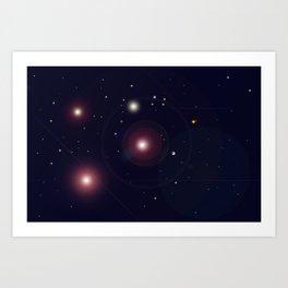 The Universe through the Stars Art Print