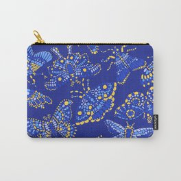 Butterfly Pattern Blue Carry-All Pouch