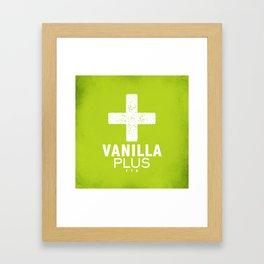 Vanilla + Framed Art Print