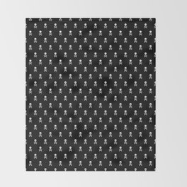 SKULLS PATTERN - BLACK & WHITE - LARGE Throw Blanket