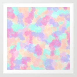 Modern Art Girly Pink Purple Paint Splotches Art Print