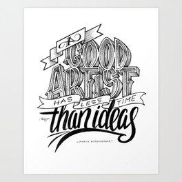 Quote - MK - Typedesign Art Print