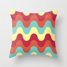 melting colors pattern Throw Pillow
