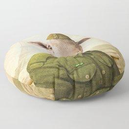 Private Leonard Lamb visits Paris Floor Pillow