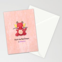 Puff the Red Dragon by leatherprince Stationery Cards