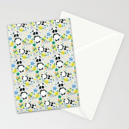 Space and Panda Patt Stationery Cards
