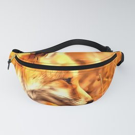 red fox acrylic four reaccw Fanny Pack