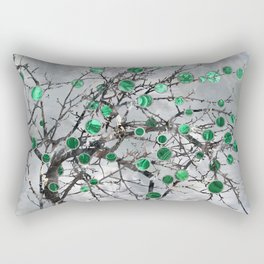 Abstract Gemstone and  Malachite Tree Rectangular Pillow