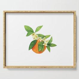 Watercolor Orange Blossom Serving Tray