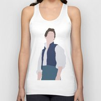 les miserables Tank Tops featuring Marius - Eddie Redmayne - Les Miserables - Minimalist design by Hrern1313