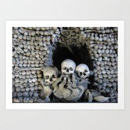 Ossuary (Bones and Skulls in the Cemetery Church of All Saints) Art Print