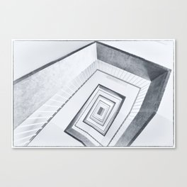 Upstairs, downstairs (Berlin abandoned places) Canvas Print