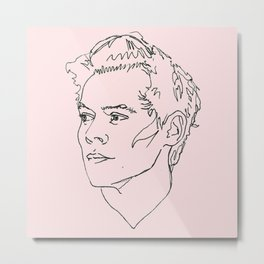 Harry Styles Drawing Metal Print