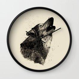 Wolf Ink Wall Clock