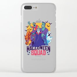Funny Halloween Squad Outfit for Costume Party Monster Clear iPhone Case
