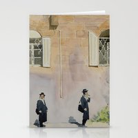 jewish Stationery Cards featuring Jewish Quarter by Andrey Esionov