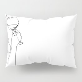 dame ivre-Girl with wine glass  Pillow Sham