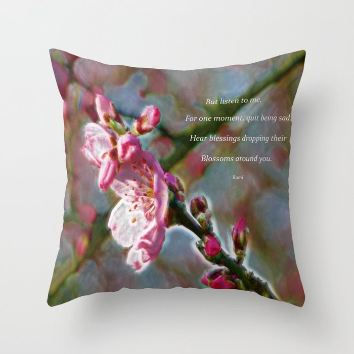 Poem from Rumi Throw Pillow