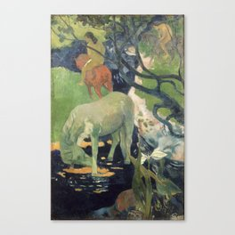 The White Horse by Paul Gauguin Canvas Print