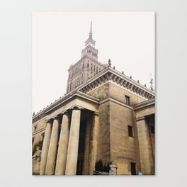 Palace of Culture and Science, Warsaw, Poland Canvas Print