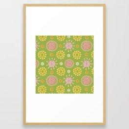 Lime Deco Framed Art Print