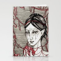 dragon ball Stationery Cards featuring Merrill: ball of twine  by Anca Chelaru